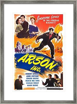 Arson Inc 1949 Framed Print by Mountain Dreams