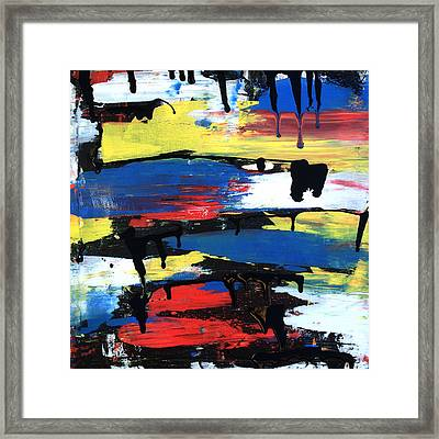Art Abstract Painting Modern Black Framed Print by Robert R Splashy Art Abstract Paintings