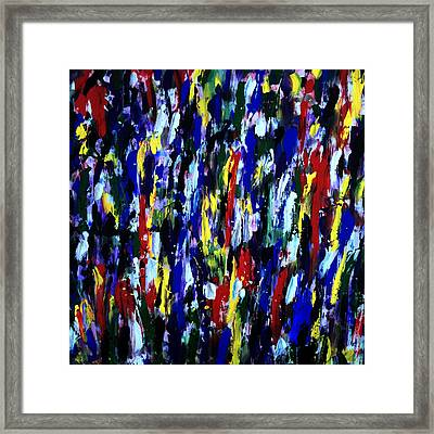 Art Abstract Painting Modern Color Framed Print