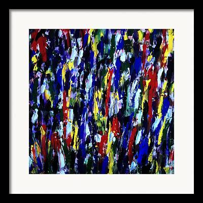 Splashy Art Framed Prints