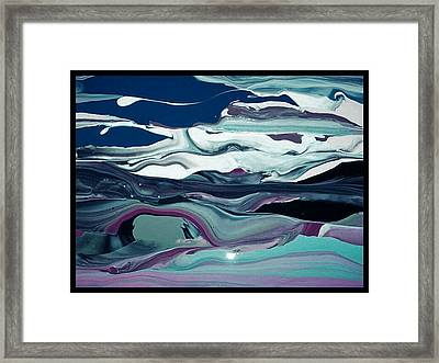 Art Abstract Framed Print by Sheila Mcdonald