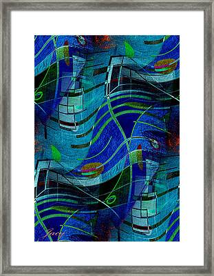 Art Abstract With Culture Framed Print by Sheila Mcdonald