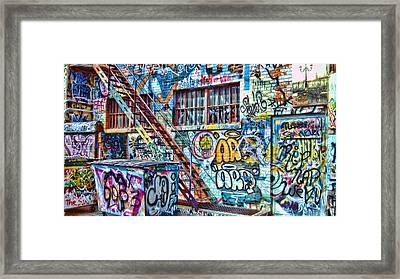 Art Alley 2 Framed Print