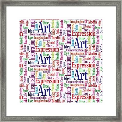 Art And Inspiration Pattern Framed Print