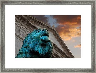 Art And Lions Framed Print