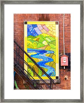 Art And The Fire Escape Framed Print by Tom Singleton