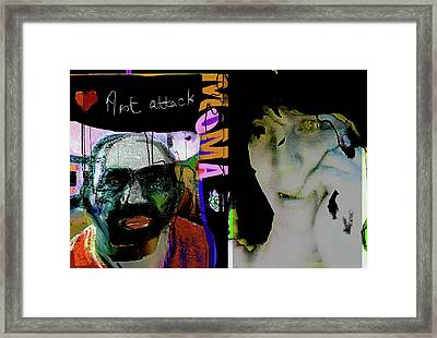 Art Attack Framed Print by Noredin Morgan