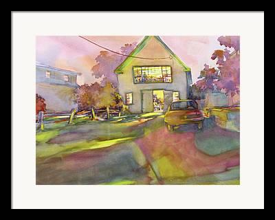 Maine Barns Framed Prints