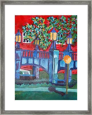 Art Bridge - University Of Iowa Framed Print by Jame Hayes