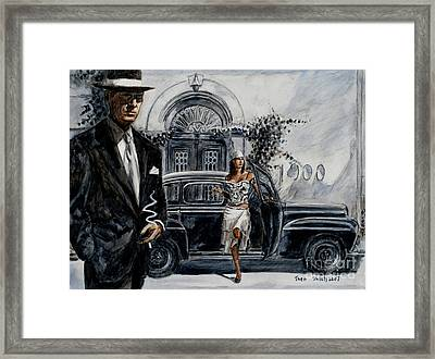Art Cafe 1900 Framed Print by Theo Michael