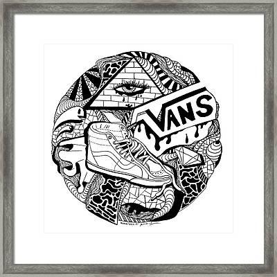 Art Circle Vans Framed Print by Kenal Louis