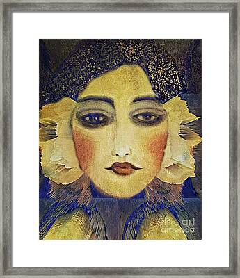 Framed Print featuring the digital art Art Deco  Beauty by Alexis Rotella