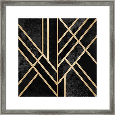 Art Deco Black Framed Print by Elisabeth Fredriksson