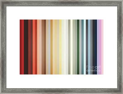 Art Deco Color Palette Of 1940 Framed Print
