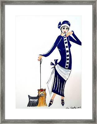 Art Deco  Diane 1920's Framed Print