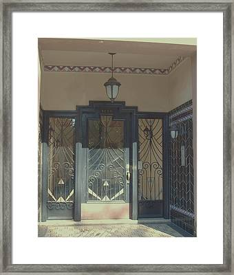 Art Deco Door Framed Print by James Johnstone