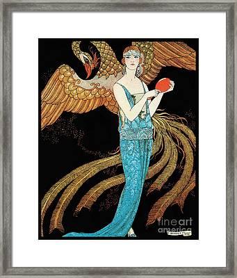 Art Deco Era Fashion Illustration Framed Print