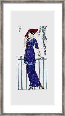 Art Deco Fashion Polka Dots Framed Print