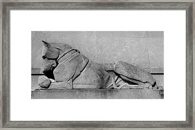 Art Deco Great Dane Framed Print by Richard Ortolano