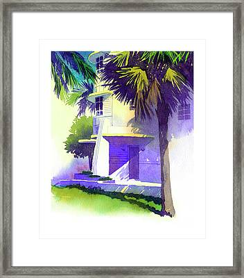 Art Deco Hotel Miami Framed Print