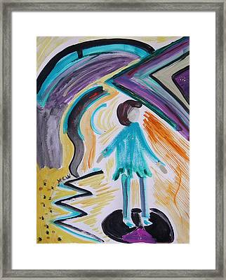 Art Deco In Mind Framed Print by Mary Carol Williams