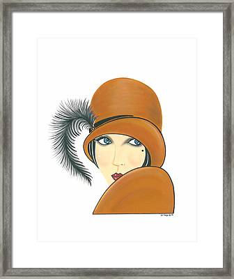 Art Deco Lady - Ginger Framed Print by Di Kaye