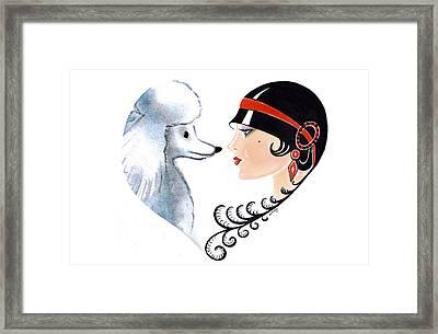 Art Deco Lady - Les Amis Framed Print
