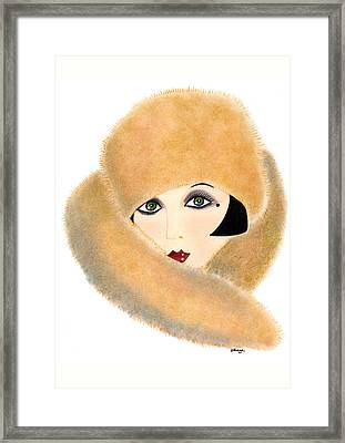 Art Deco Lady - Vivian Framed Print by Di Kaye