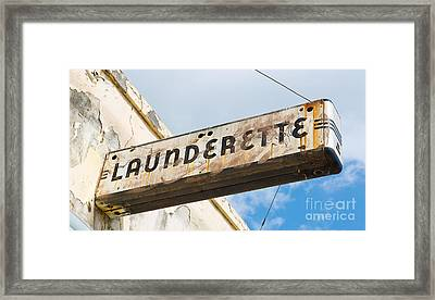 Art Deco Launderette Sign Framed Print by ELITE IMAGE photography By Chad McDermott