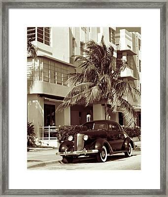 Art Deco Ocean Boulevard Miami Beach Florida Framed Print by George Oze