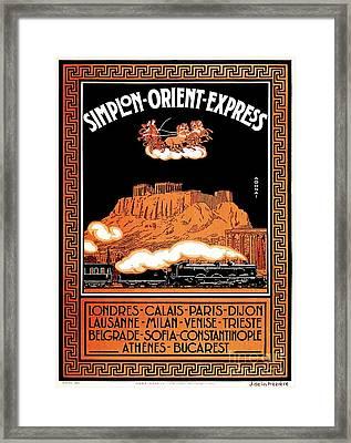 Art Deco Orient Express Advertising Athens Framed Print