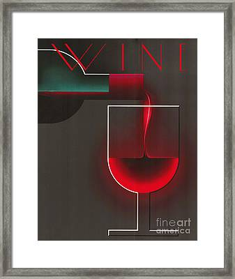 Art Deco Red Wine Framed Print