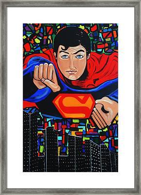 Art Deco  Superman Framed Print