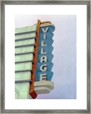 Framed Print featuring the photograph Art Deco Village by Matthew Bamberg