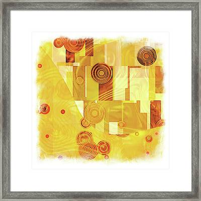 Art Deco Yellow Framed Print