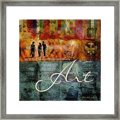 Art Framed Print by Evie Cook