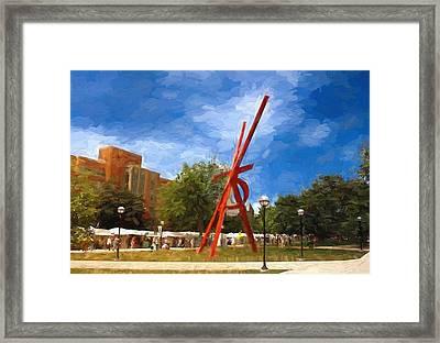 Art Fair Painting Framed Print