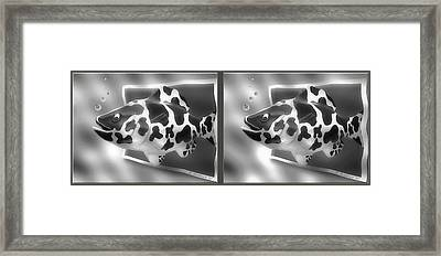 Art Fish - Gently Cross Your Eyes And Focus On The Middle Image That Appears Framed Print by Brian Wallace