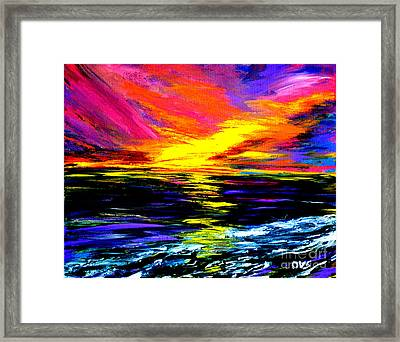 Art For Health And Life. Painting 8. Splendid Framed Print