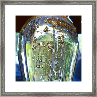 Art Glass Reflections And Bubble Framed Print by Shari Warren