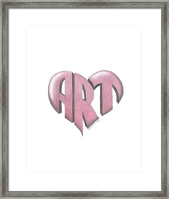 Art Heart Framed Print