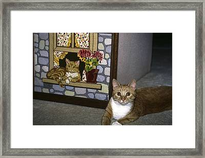 Art Imitates Life Framed Print by Sally Weigand