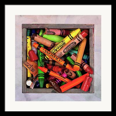 Colored Pencil Abstract Framed Prints