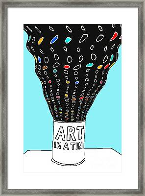 Art In A Tin Framed Print by Andy  Mercer
