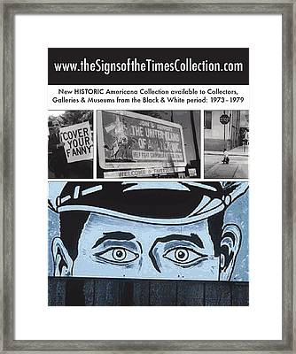 Art In America Ad Framed Print by Signs Signs of the Times Collection
