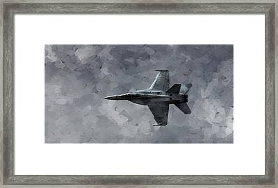 Framed Print featuring the photograph Art In Flight F-18 Fighter by Aaron Lee Berg