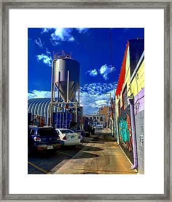 Art In The Alley Framed Print
