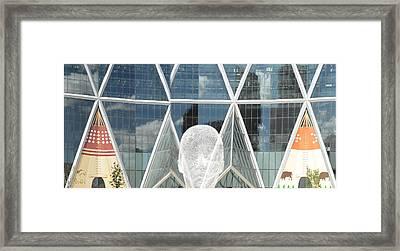 Art In The City Of Calgary Framed Print