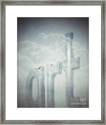 Art In The Clouds Framed Print