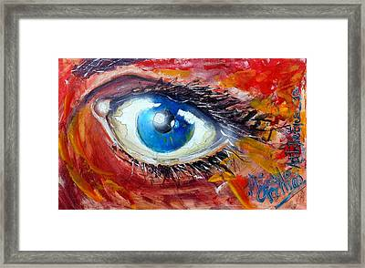 Art In The Eyes Framed Print by Marcello Cicchini